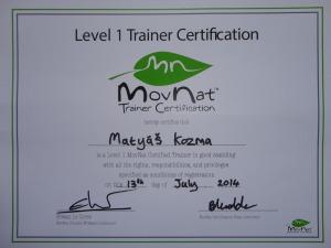 MovNat certifikát Level I 2